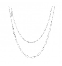 Sif Jakobs Necklace Chain Due Silver-010