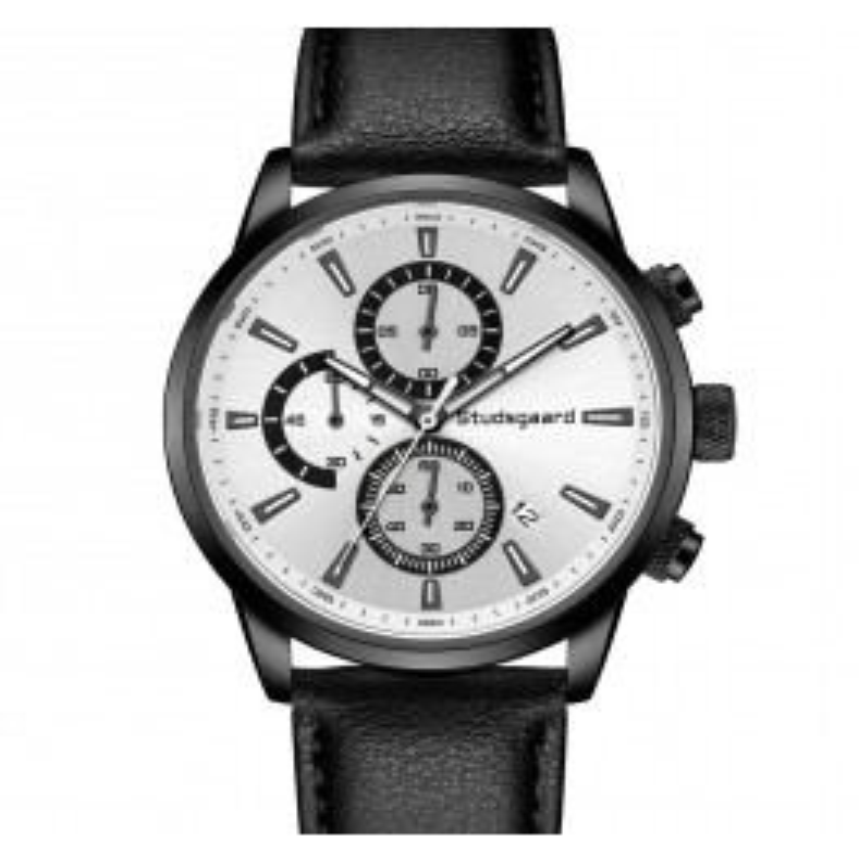 Studsgaard Black Leather Black/White-06